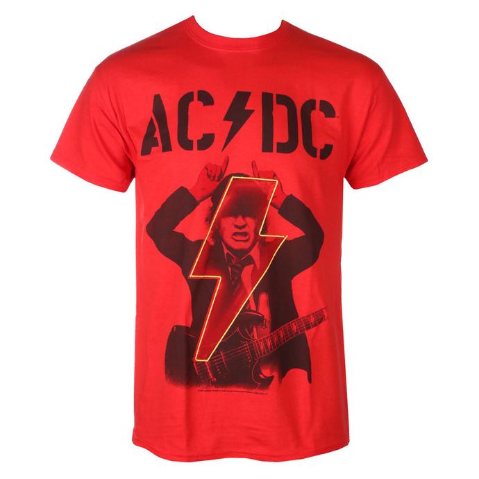 T-shirt pour hommes AC / DC - Angus - POWER UP - rouge - RAZAMATAZ