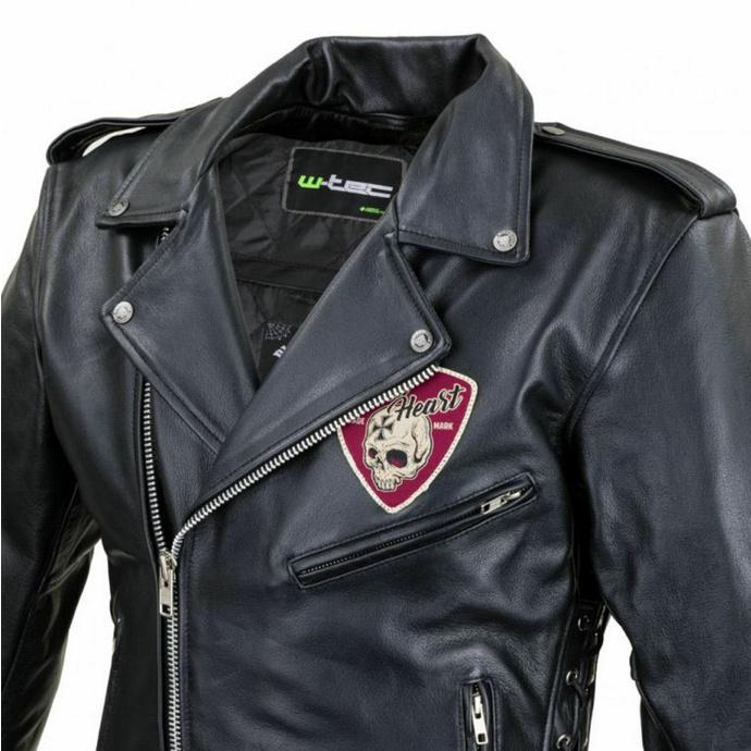 Veste pour hommes (double rider) BLACK HEART - PERFECT - NOIR - 029-0015-BLK - ENDOMMAGÉ