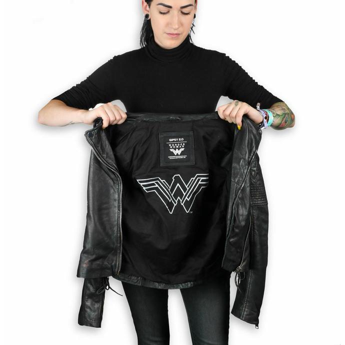 Veste pour femmes (veste metal) - WONDER WOMAN - LAMEV MET / BLK - M0010772 - ENDOMMAGÉ