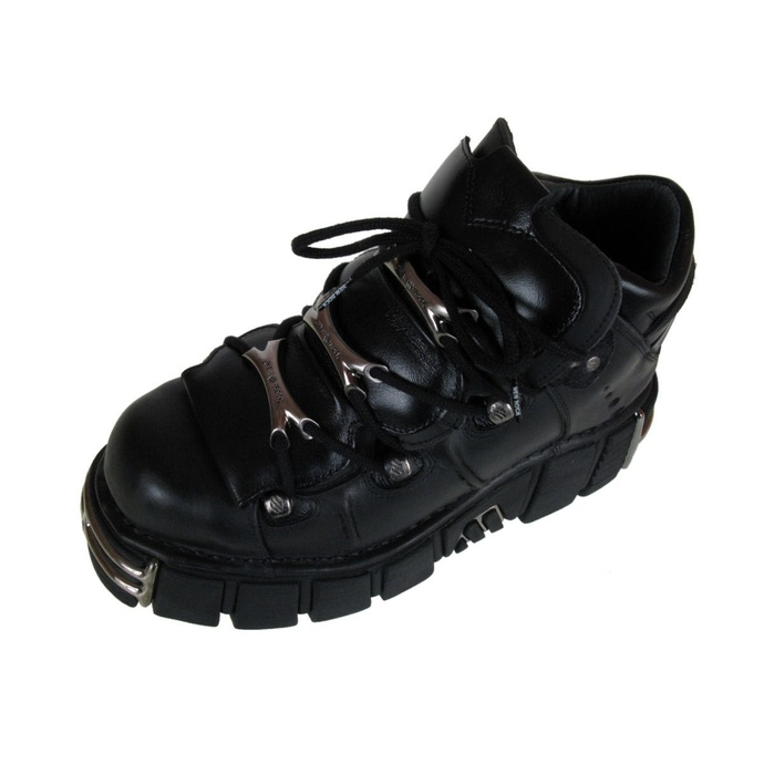 Bottes NEW ROCK - Chaîne Chaussures (106-S1) Noir - ENDOMMAGÉ