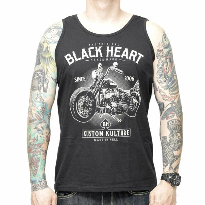 Débardeur pour hommes BLACK HEART - MOTOR CYCLE - NOIR