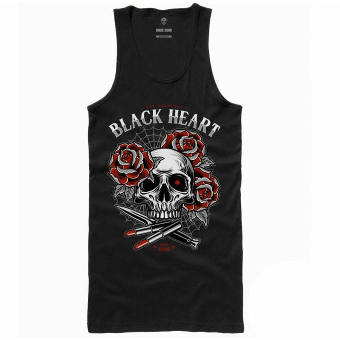 Débardeur BLACK HEART - LIPSTICK SKULL - NOIR