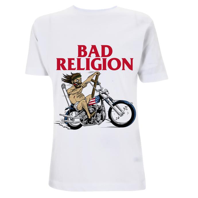 T-shirt pour homme Bad Religion - American Jesus -White Heavy