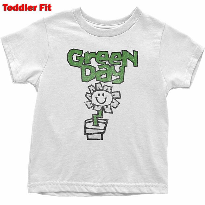 T-shirt pour enfants Green Day - Flower - WHT - ROCK OFF