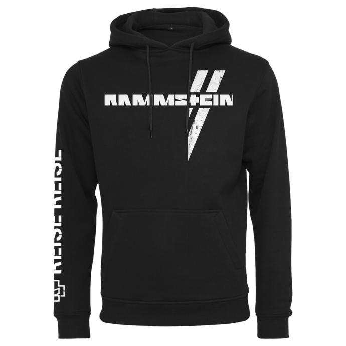 Sweat à capuche pour hommes Rammstein - Weißes Kreuz - noir