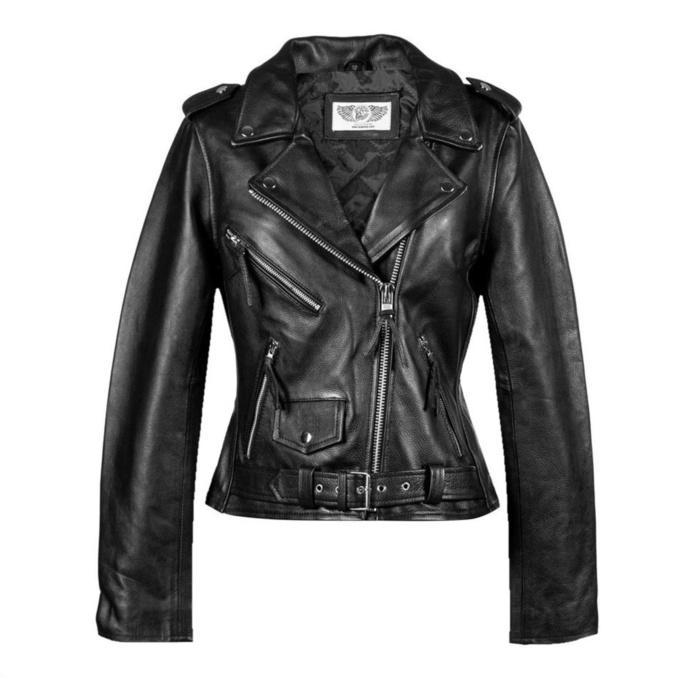 Veste pour femmes NEW ROCK - LDS MBF Black COW ANILINE BLACK