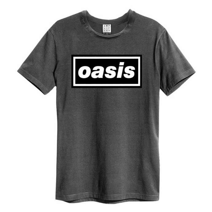 T-shirt pour homme OASIS - LOGO - CHARCOAL - AMPLIFIED