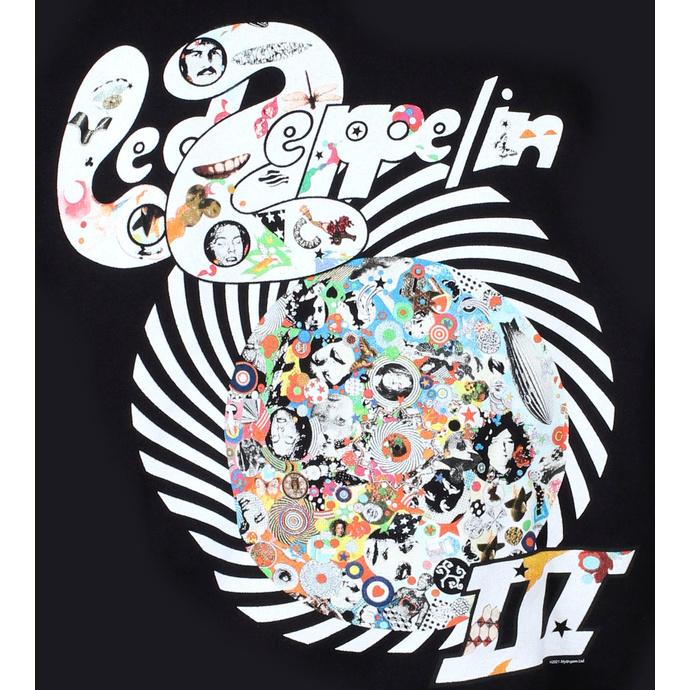 Sweat à capuche pour hommes Led Zeppelin - Swirl III - Noir