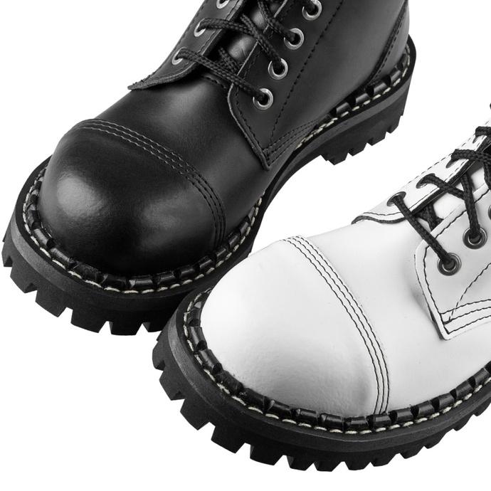 Bottes STEADY´S - 10 trous - Noir et blanc