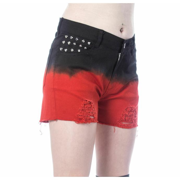 Short pour femmes VIXXSIN - GAIA - NOIR/ROUGE