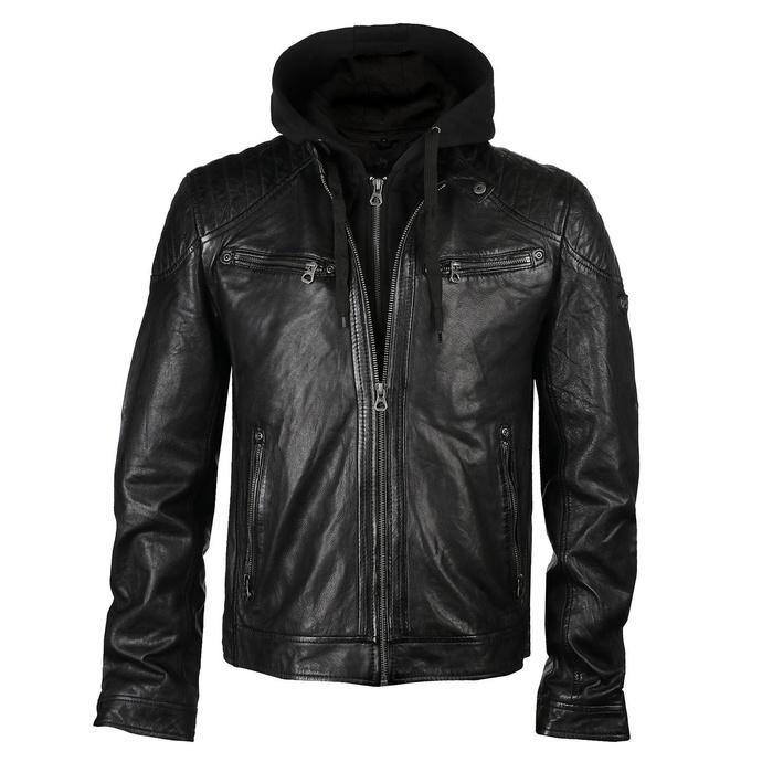 Veste pour hommes (motard) GBGorey 2 LASANV - Black
