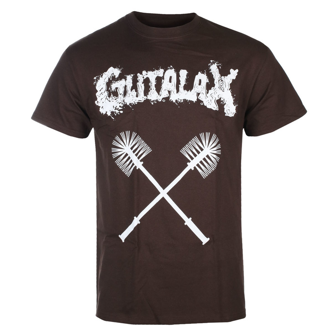 T-shirt pour hommes GUTALAX - toilet brushes - marron - ROTTEN ROLL REX