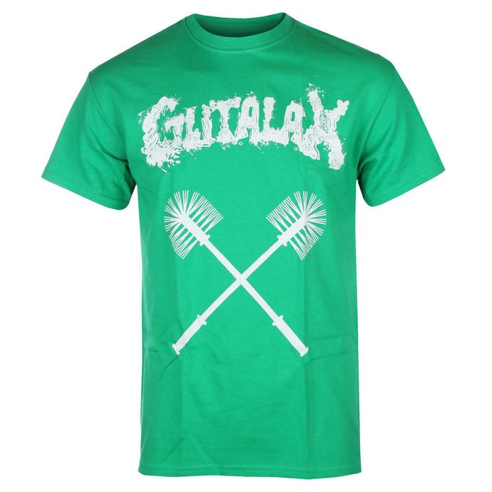 T-shirt pour hommes GUTALAX - toilet brushes - vert - ROTTEN ROLL REX
