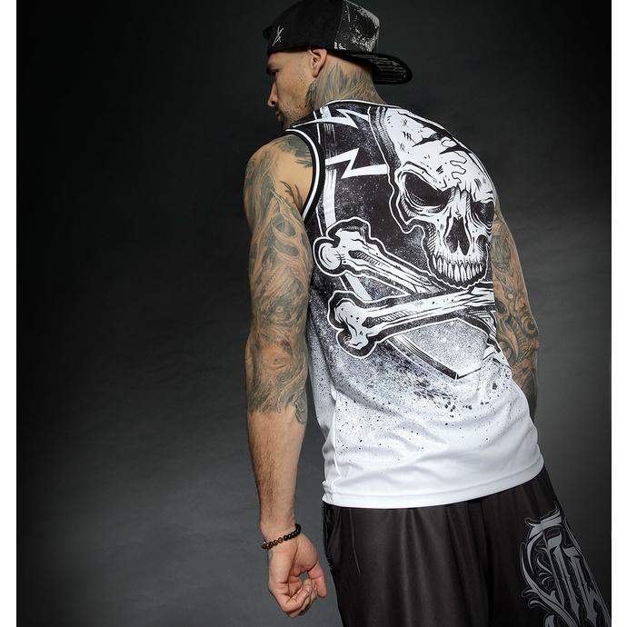 Top (jersey) pour hommes HYRAW - WHITE BLAZON