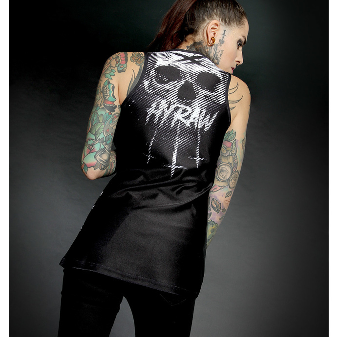 Top HYRAW  pour femmes - Graphic - NOIR RAYURES