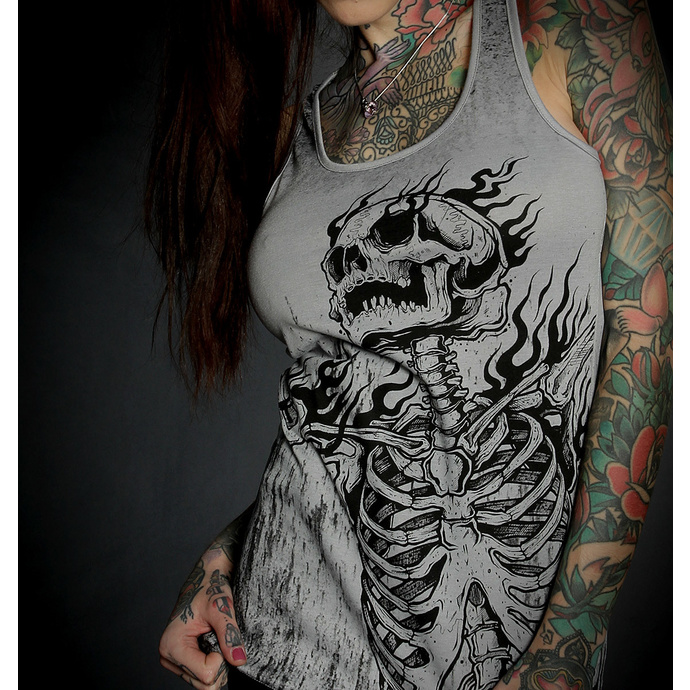 Top  pour femmes HYRAW - Graphic - SKULL AND BONES