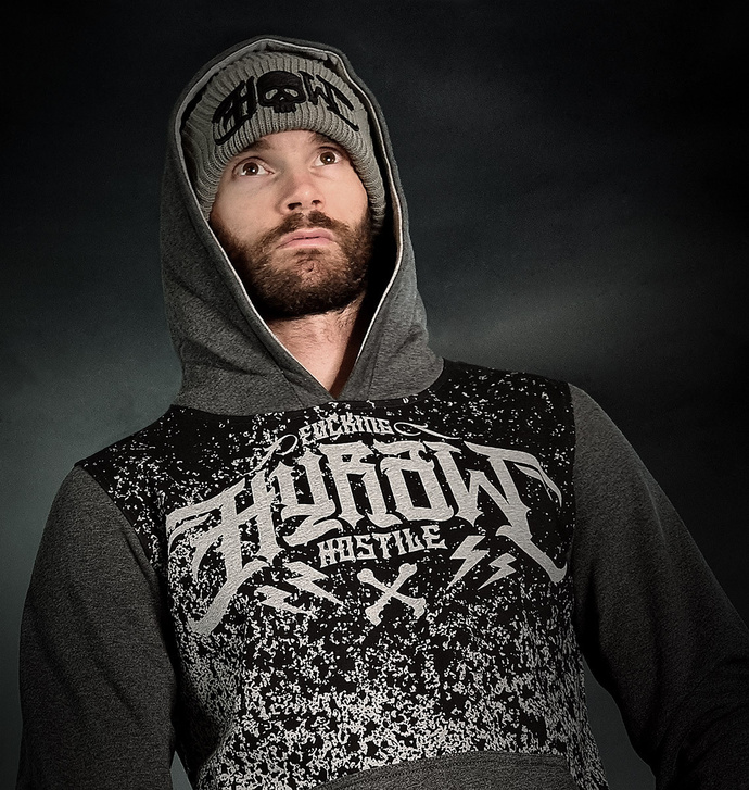 Sweat à capuche pour homme HYRAW - ASHES TO
