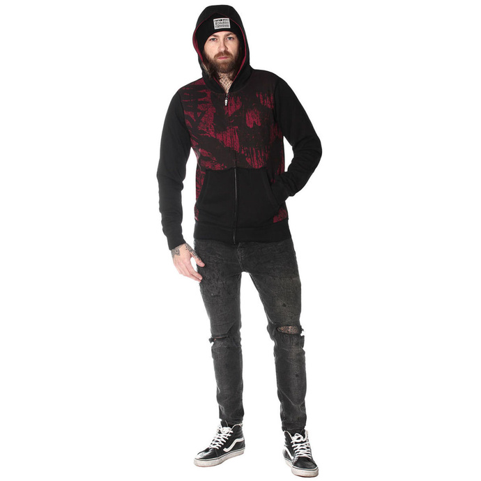 Sweat à capuche pour hommes HYRAW - HOMME RED HELL