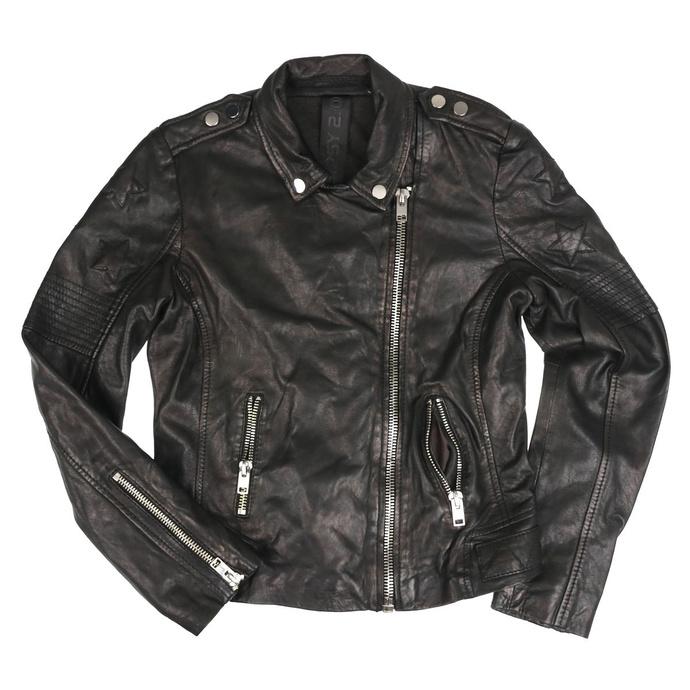 Veste (biker) pour femmes G2GWona W20 SF LAMEV - GLOSSY - NOIR