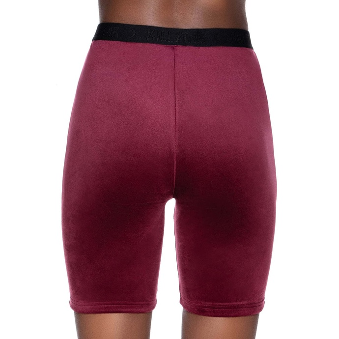Shorts pour femmes KILLSTAR - Luna Cycliste - BOURGOGNE