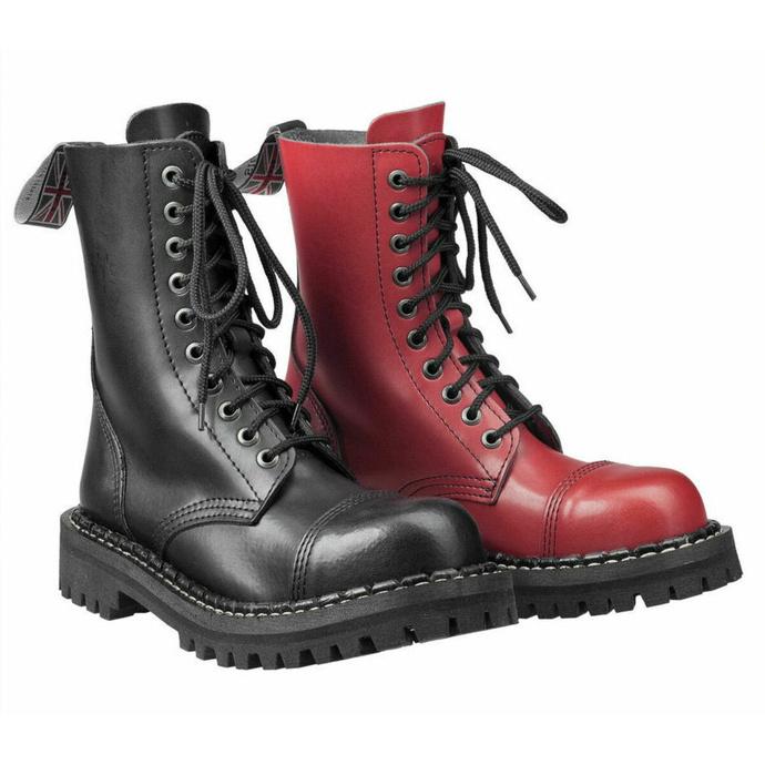 Bottes STEADY´S - 10 trous - Noir rouge