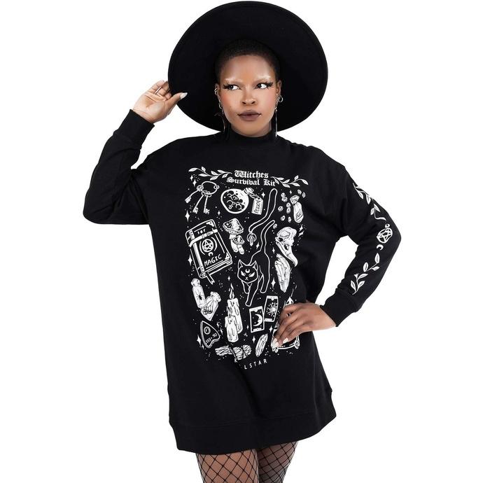 Sweat-shirt pour femme (robe) KILLSTAR - Survival Kit Chandail - Noir