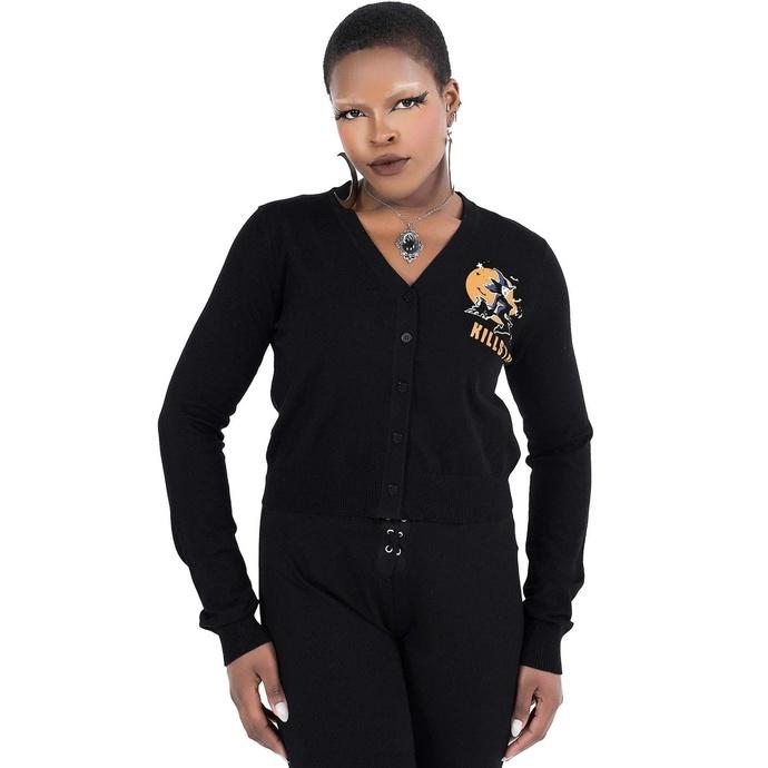 pull-over pour femmes KILLSTAR - Witch Queen Cardigan - Noir