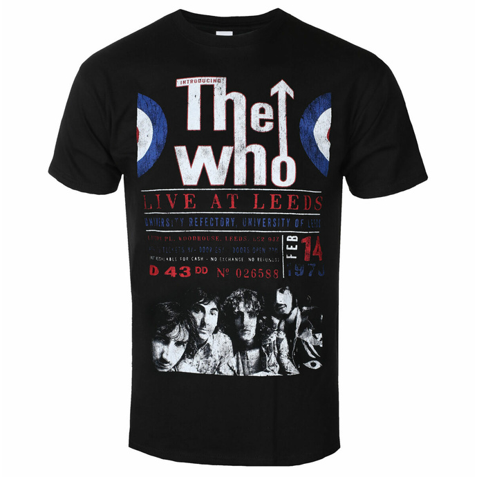T-shirt The Who pour hommes - Live At Leeds '70 - ROCK OFF