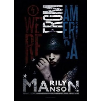 Drapeau Marilyn Manson - American Graffiti, HEART ROCK, Marilyn Manson