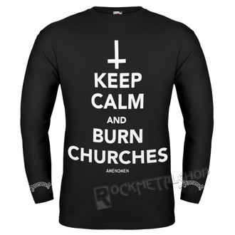 t-shirt hardcore pour hommes - KEEP CALM AND BURN CHURCHES - AMENOMEN, AMENOMEN