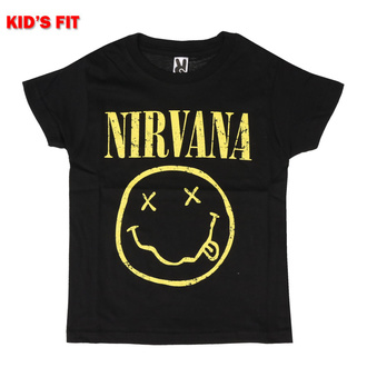 T-shirt pour enfants Nirvana - Yellow Smiley - ROCK OFF, ROCK OFF, Nirvana