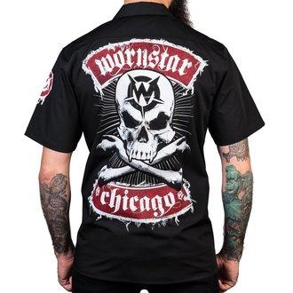 Chemise pour homme WORNSTAR - Chicago Skull - Noir, WORNSTAR