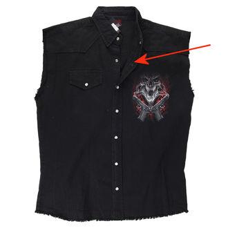 Pour des hommes sans manches chemise SPIRAL - Street Reaper - Noir - ENDOMMAGÉ, SPIRAL
