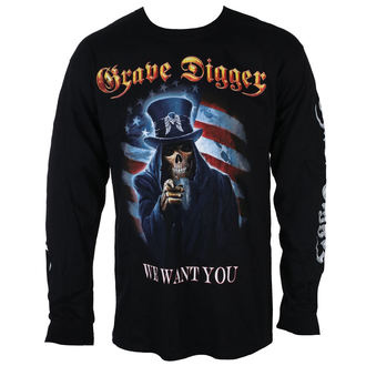 tee-shirt métal pour hommes Grave Digger - UNCLE SAM 2016 - Just Say Rock, Just Say Rock, Grave Digger