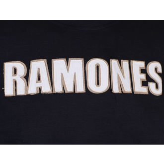 tee-shirt métal pour hommes Ramones - Logo & Seal Applique Slub - ROCK OFF, ROCK OFF, Ramones