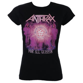 tee-shirt métal pour femmes Anthrax - For All Queens - ROCK OFF, ROCK OFF, Anthrax