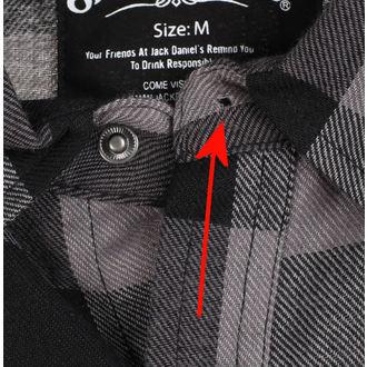 chemise hommes Jack Daniels - Checks - Gris noir - ENDOMMAGÉ, JACK DANIELS