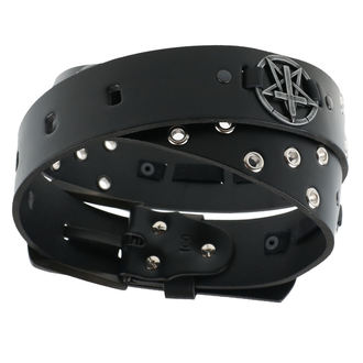 Ceinture Pentagram Cross, JM LEATHER