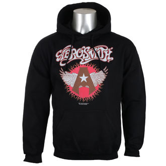 sweat-shirt avec capuche pour hommes Aerosmith - Flying A Logo - HYBRIS, HYBRIS, Aerosmith