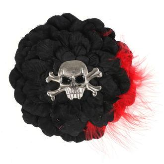 Epingle à cheveux - Noir/ rouge Plumes