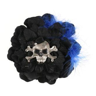 Epingle à cheveux  - Noir / Bleu Plumes