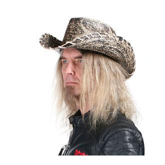Chapeau WORNSTAR - Hellrider HS Black & Natural Rocker Cowboy, WORNSTAR