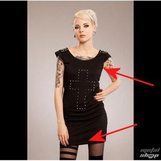 robe femmes POIZEN INDUSTRIES - Cross Spike - Noir - ENDOMMAGÉ, POIZEN INDUSTRIES