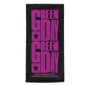 Patch GREEN DAY - PURPLE LOGO - RAZAMATAZ, RAZAMATAZ, Green Day