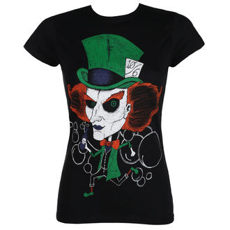 t-shirt hardcore pour femmes - MAD HATTER - GRIMM DESIGNS, GRIMM DESIGNS