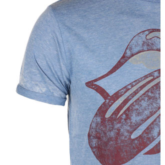 tee-shirt métal pour hommes Rolling Stones - Mid Blue - ROCK OFF, ROCK OFF, Rolling Stones