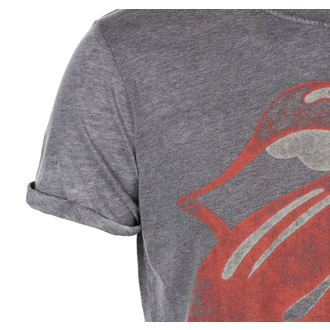tee-shirt métal pour hommes Rolling Stones - Vintage Tongue Logo - ROCK OFF, ROCK OFF, Rolling Stones