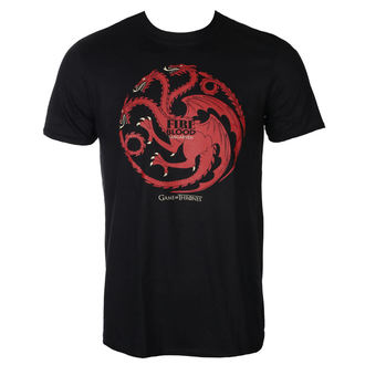 t-shirt de film pour hommes Hra o trůny - FIRE AND BLOOD - PLASTIC HEAD, PLASTIC HEAD