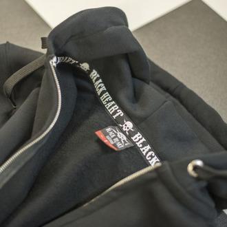 sweat-shirt avec capuche pour hommes - DEVIL SKULL - BLACK HEART