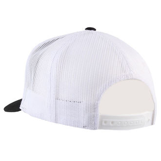 casquette BLACK HEART - HOT ROD FLAMES - BLANC, BLACK HEART